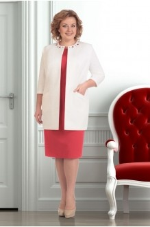 Юбочный костюм /комплект Ksenia Stylе 1251 коралл фото 1