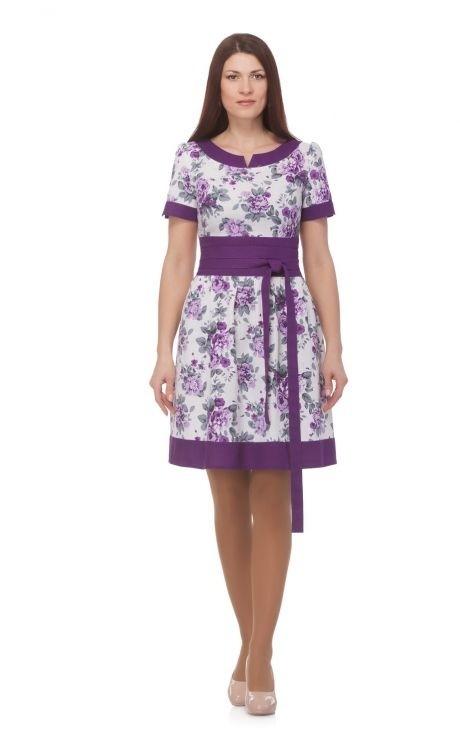 Летнее платье ASPO design 817 фиолетовый