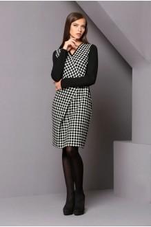 Повседневное платье Golden Vallеy 4180 черный/ белый фото 2