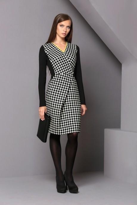 Повседневное платье Golden Vallеy 4180 черный/ белый