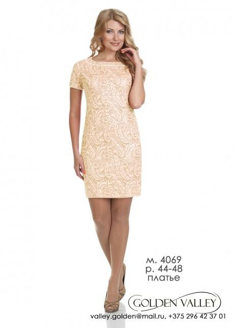 Вечернее платье Golden Vallеy 4069 бежевый