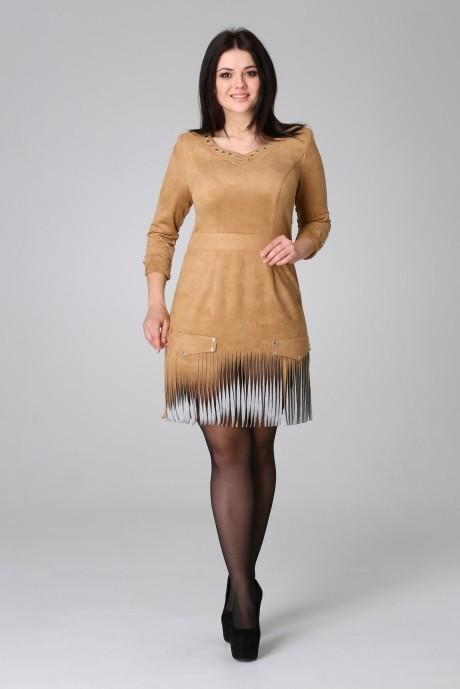Повседневное платье Нинель Шик  5383 беж