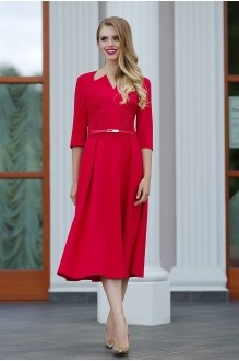 Повседневное платье Люше 1104 красный фото 1