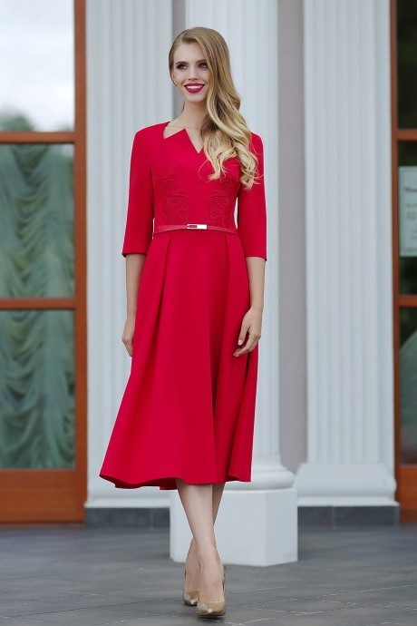 Повседневное платье Люше 1104 красный