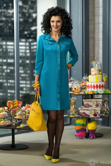Повседневное платье Твой Имидж 2046 голубой