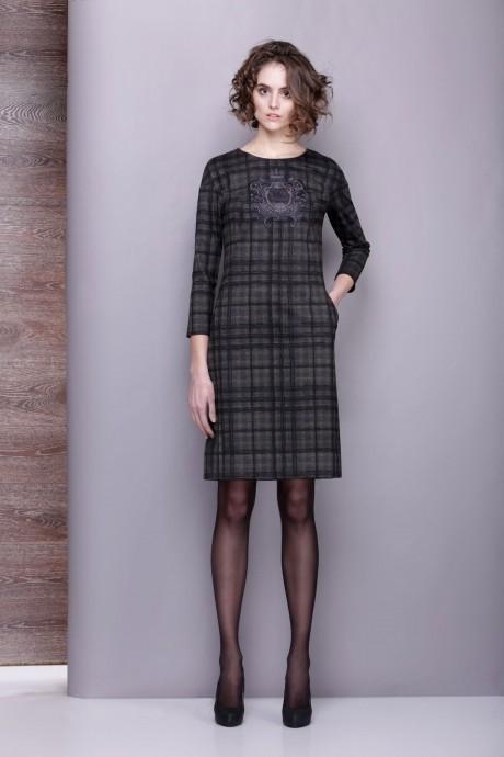 Повседневное платье Golden Vallеy 4197 серо-оливковый