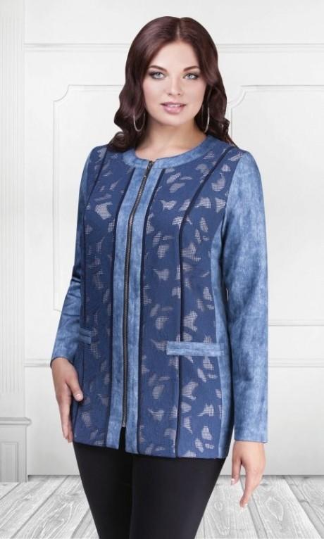 Жакеты (пиджаки) Camelia 15101 (2) синий сетка