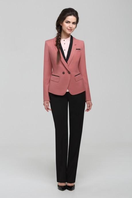 Брючный костюм /комплект Nova Line 1400.4154 Розовый/Чёрный