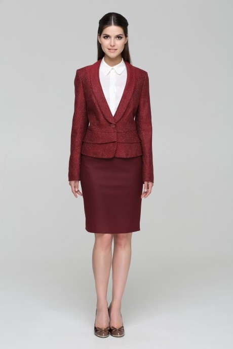 Юбочный костюм /комплект Nova Line 1389.3269 бордовый