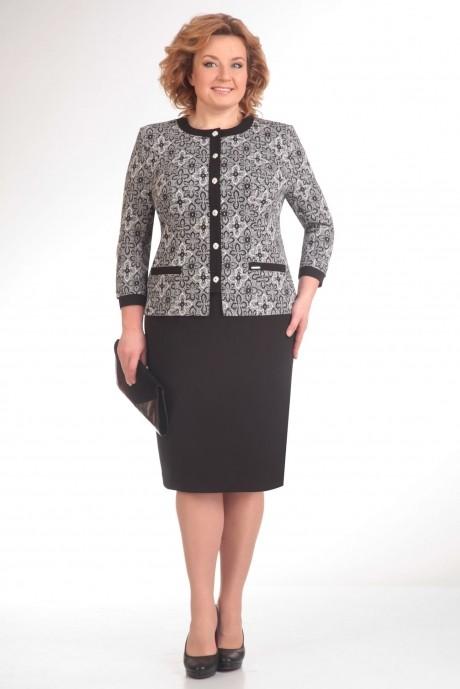 Юбочный костюм /комплект Ksenia Stylе 1254 черный