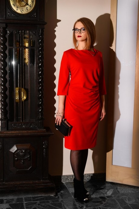 Вечернее платье Ладис Лайн 679 красный
