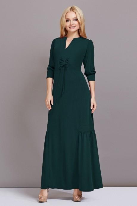 Длинное платье Lady Secret 3332 темно-зеленый