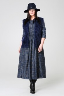 Длинное платье Анна 903 синий фото 2