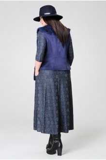 Длинное платье Анна 903 синий фото 3