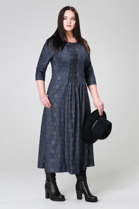 Длинное платье Анна 903 синий