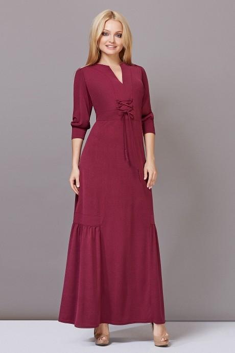 Длинное платье Lady Secret 3332 бордо