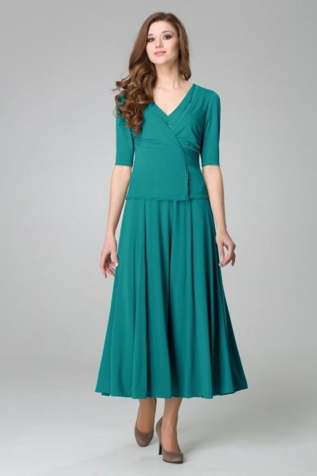 Длинное платье Teffi Style 1170 темная бирюза