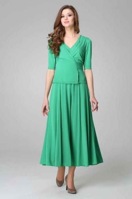 Длинное платье Teffi Style 1170 мята