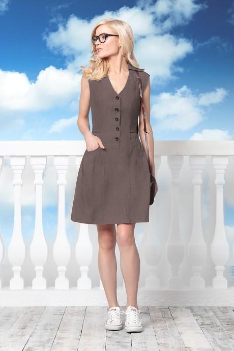 Летнее платье AYVA 263021 -170 графит