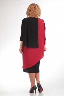 Вечернее платье Прити 36 черный/красный фото 2