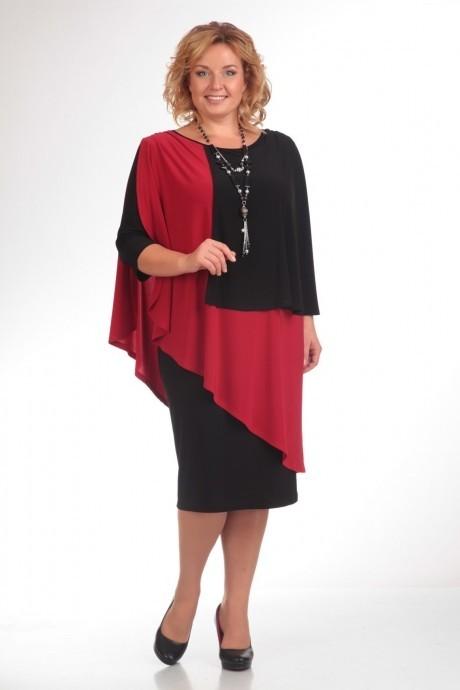 Вечернее платье Прити 36 черный/красный