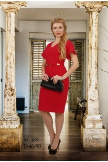 Деловое платье Мишель Стиль 480 красный фото 1