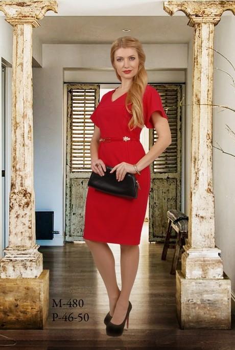 Деловое платье Мишель Стиль 480 красный
