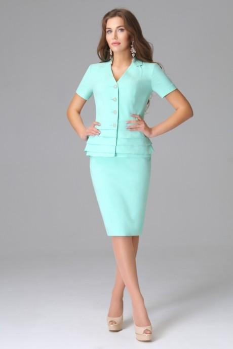 Юбочный костюм /комплект Lissana 2585 ментол