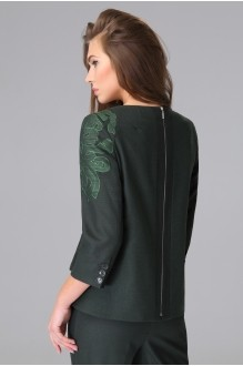 Брючный костюм /комплект Lissana 2655 темно-зеленый фото 3
