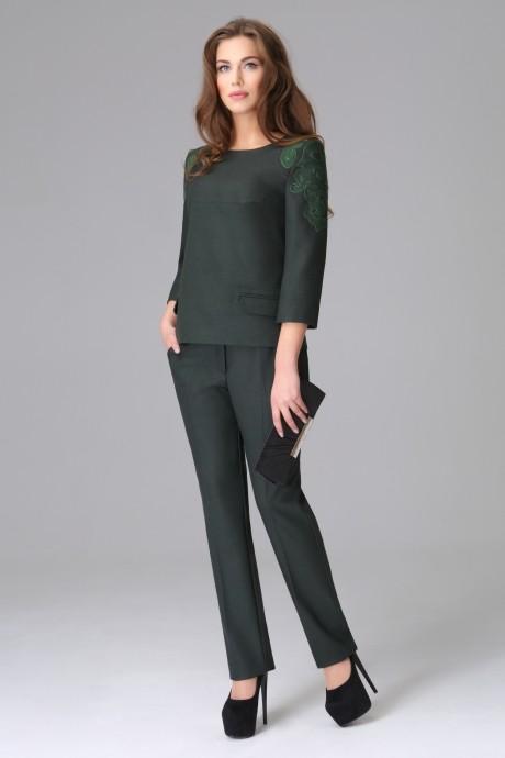 Брючный костюм /комплект Lissana 2655 темно-зеленый