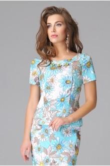 Юбочный костюм /комплект Lissana 2792 голубые тона фото 3