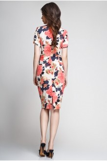 Летнее платье Teffi Style 1082 розы на бежевом фоне фото 2