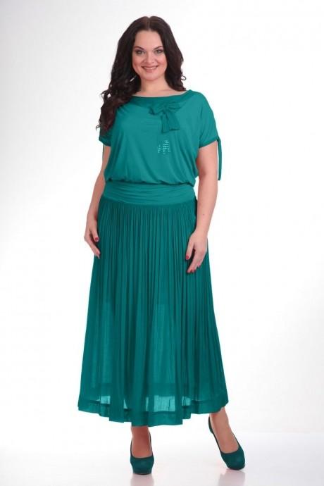 Длинное платье Teffi Style 1107 тем.бирюза