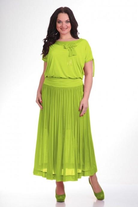 Длинное платье Teffi Style 1107 лайм