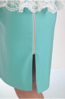 Юбочный костюм /комплект Нинель Шик 5259 голубой фото 3