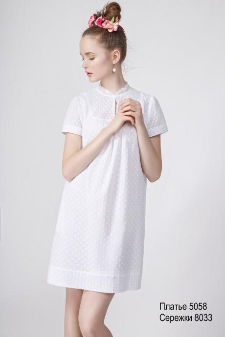 Повседневное платье Lea Lea  5058 белый