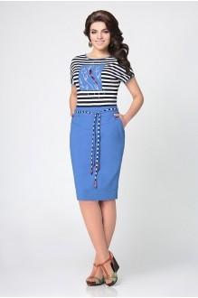 Летнее платье Мублиз 959 голубой фото 1