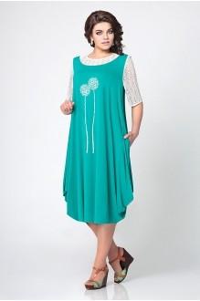 Повседневное платье Мублиз 967 бирюза фото 1