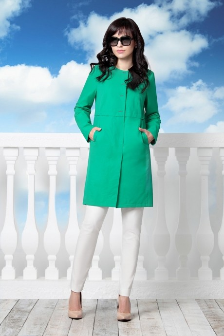 Плащ Elema 6206 зеленый /170