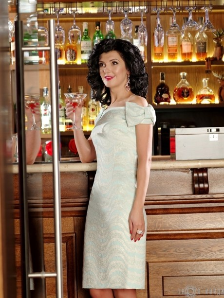Вечернее платье Твой Имидж 2067 мята