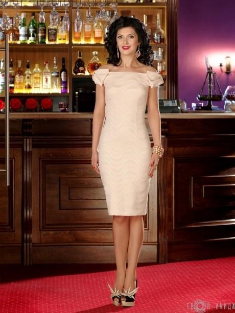 Вечернее платье Твой Имидж 2067 пудра