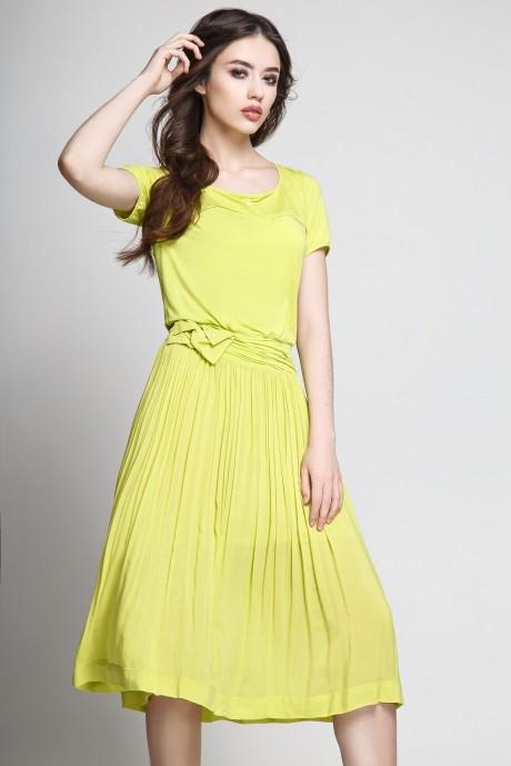 Летнее платье Teffi Style 1174 лайм