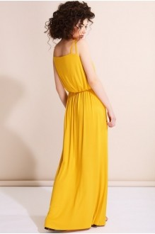 Длинное платье Nova Line 5530 желтый фото 2