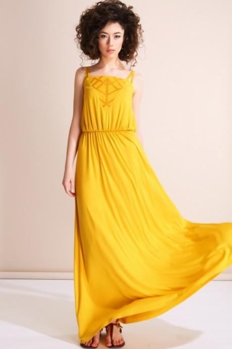 Длинное платье Nova Line 5530 желтый
