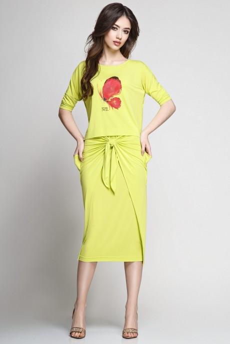 Юбочный костюм /комплект Teffi Style 1177 лайм