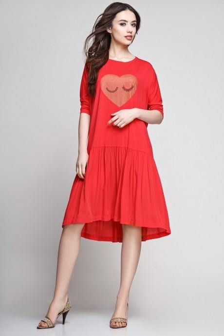 Летнее платье Teffi Style 1183 красный