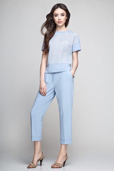 Брючный костюм /комплект Teffi Style 1184 голубой