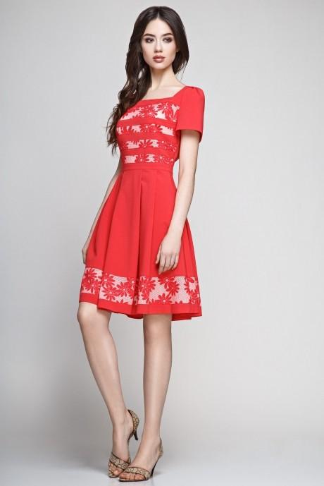 Летнее платье Teffi Style 1188 красный