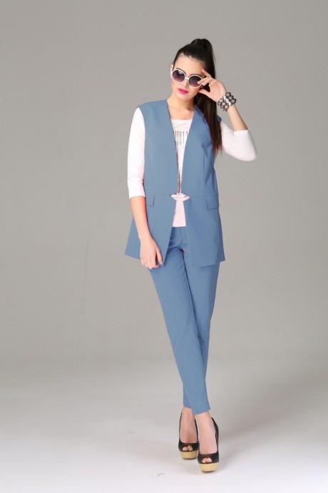 Брючный костюм /комплект Arita Style 934 голубой