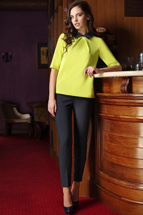 Брючный костюм /комплект Arita Style (Denissa) 948 блуза лайм